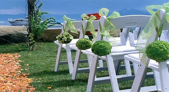 Decorations for a lakeside event