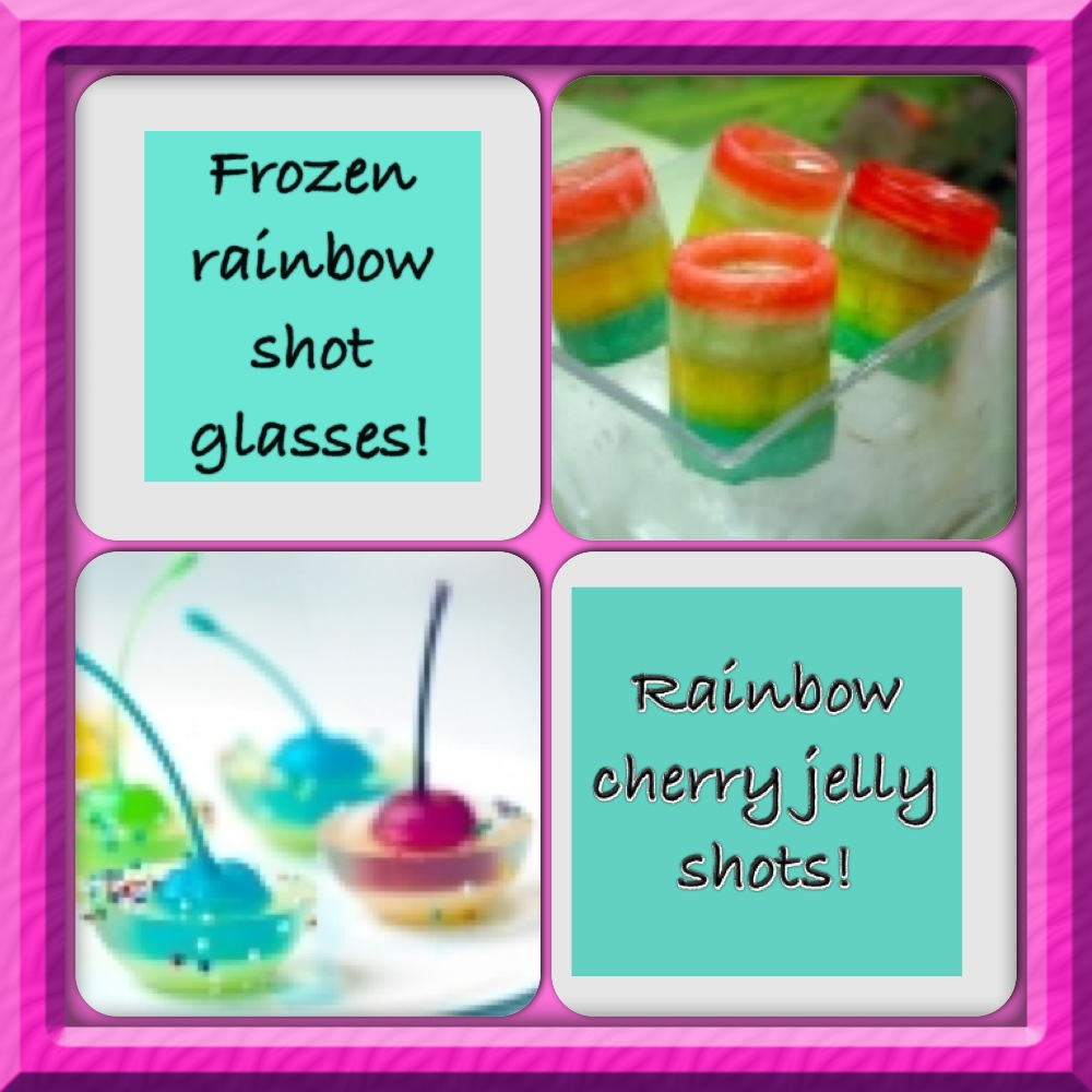 rainbow ice shot glass