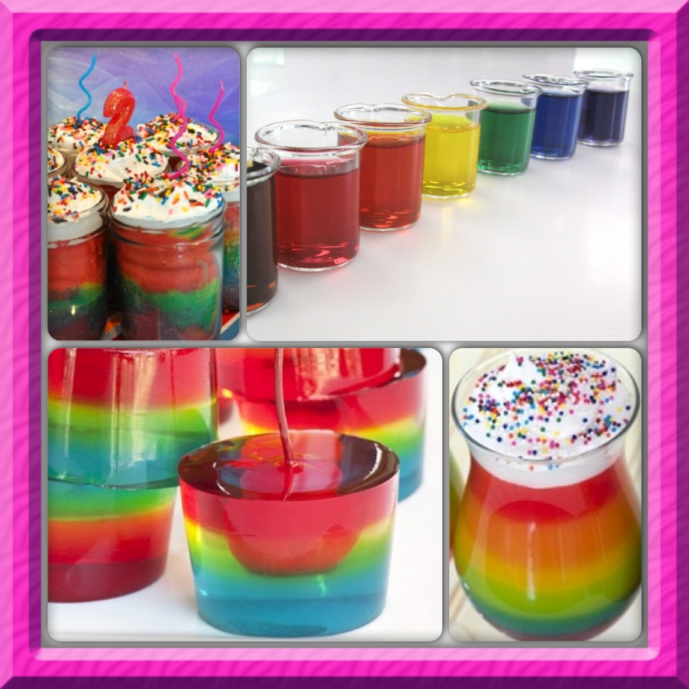 rainbow pudding