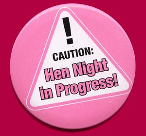 hens night badge