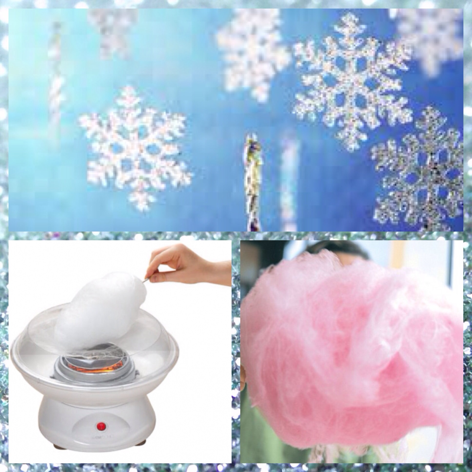 snow flakes, fairy floss, fairy floss machine