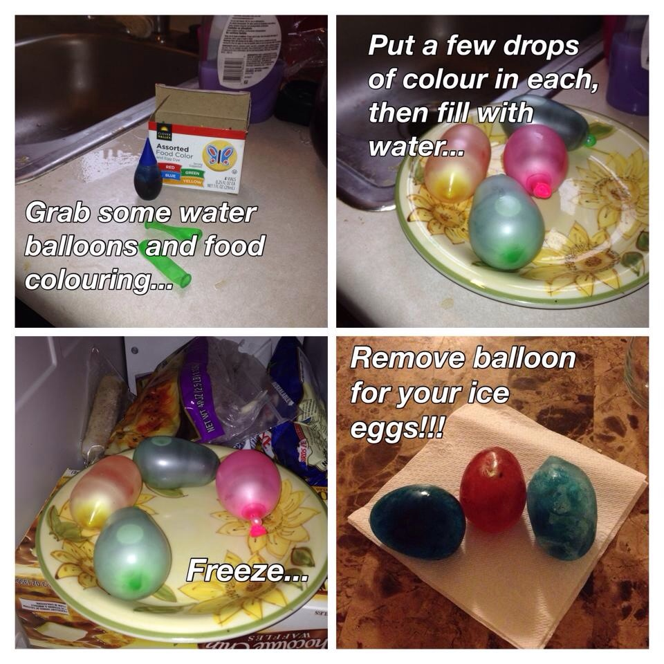 steps to make icy marble eggs