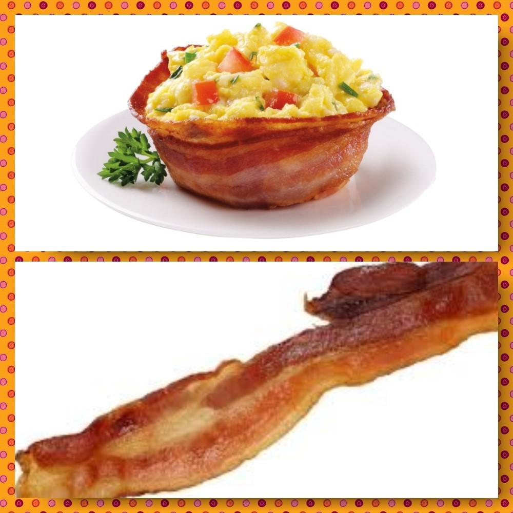 bacon bowl and bacon