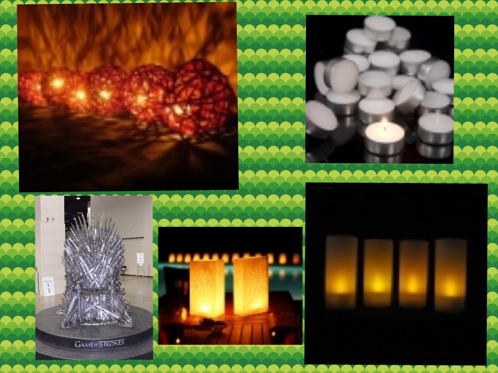 candles, throne, rattan ball lights