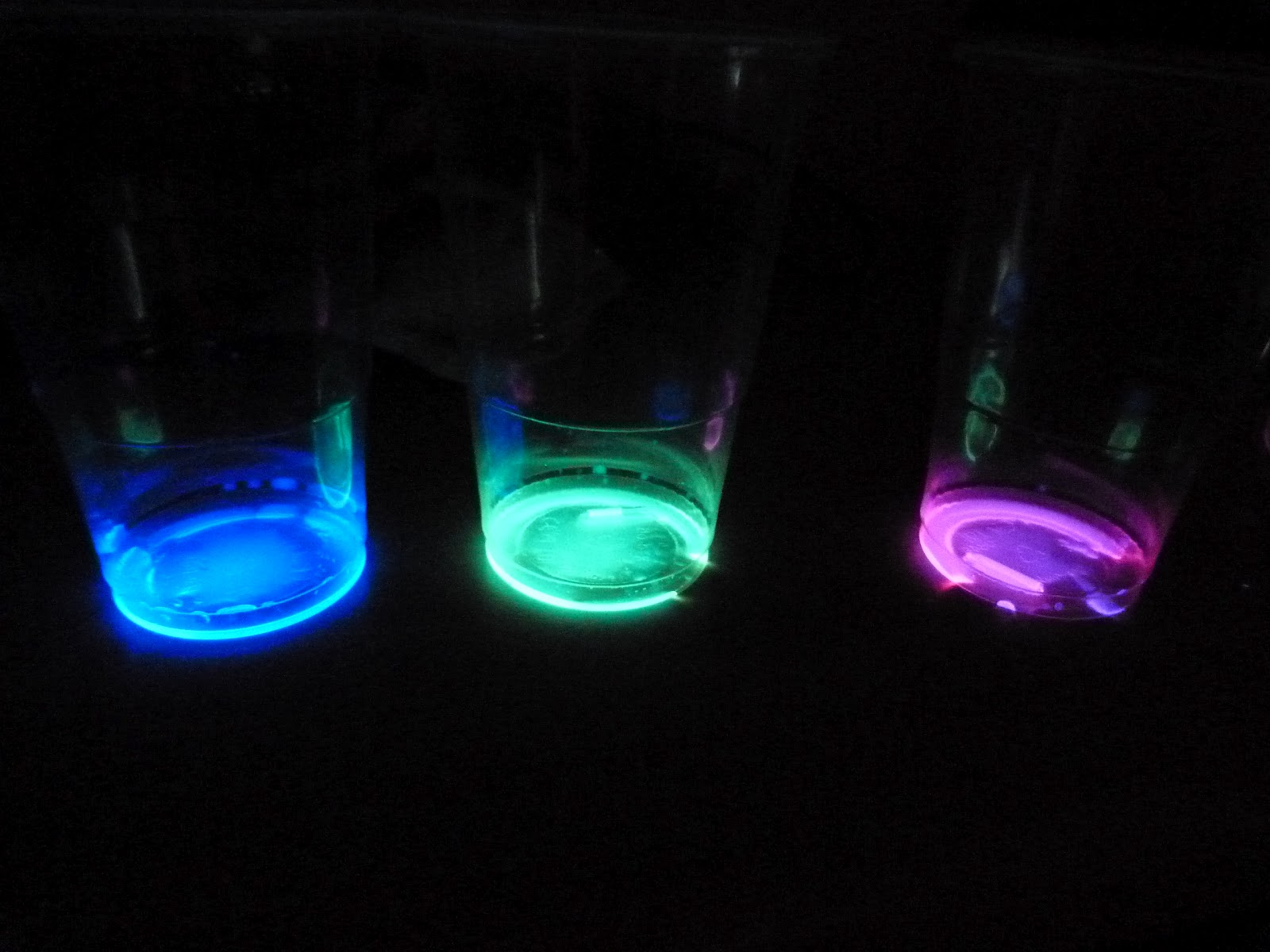 glowsticks in cup