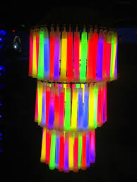 chandelier made of glow sticks