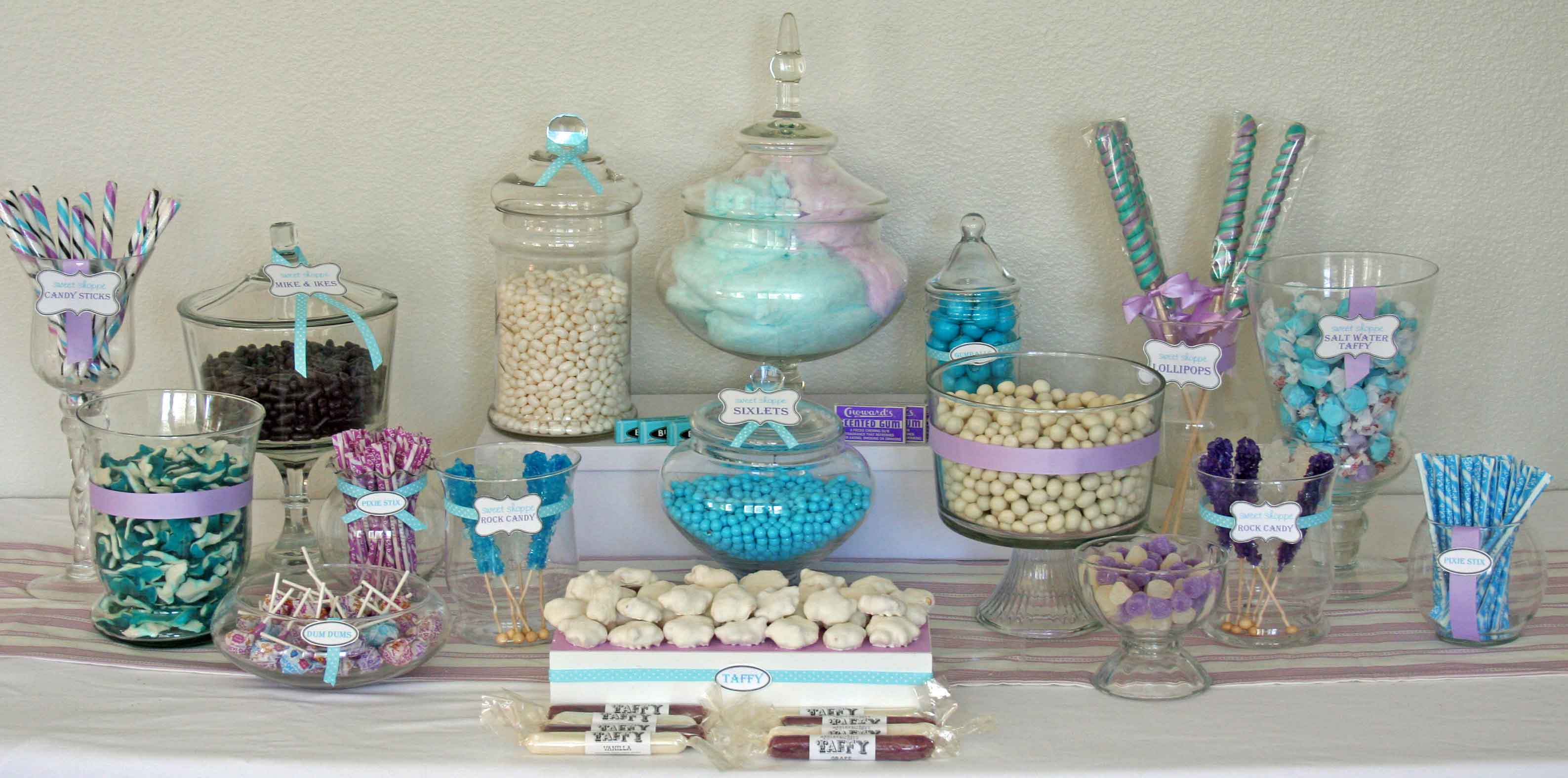 winter candy bar buffet