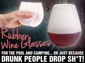 rubber wine glasses for parties