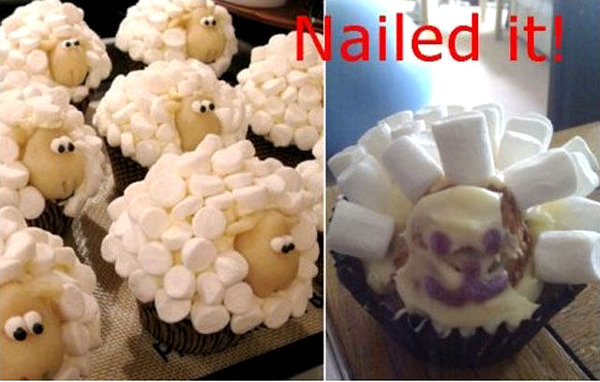 sheep cupcake fail