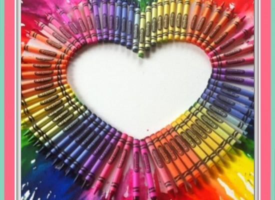 How To Make Easy Crayon Artwork
