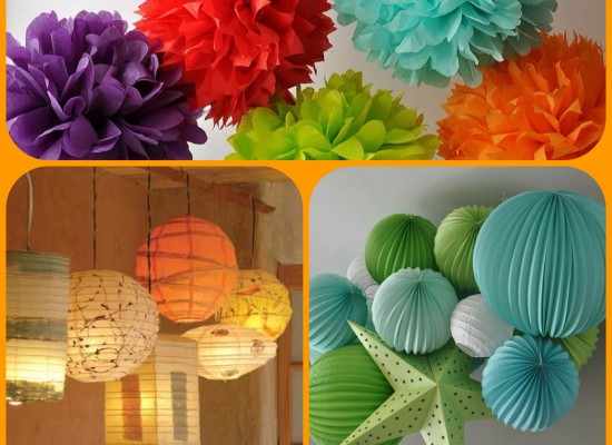 How To Make A DIY Paper Lantern Chandelier