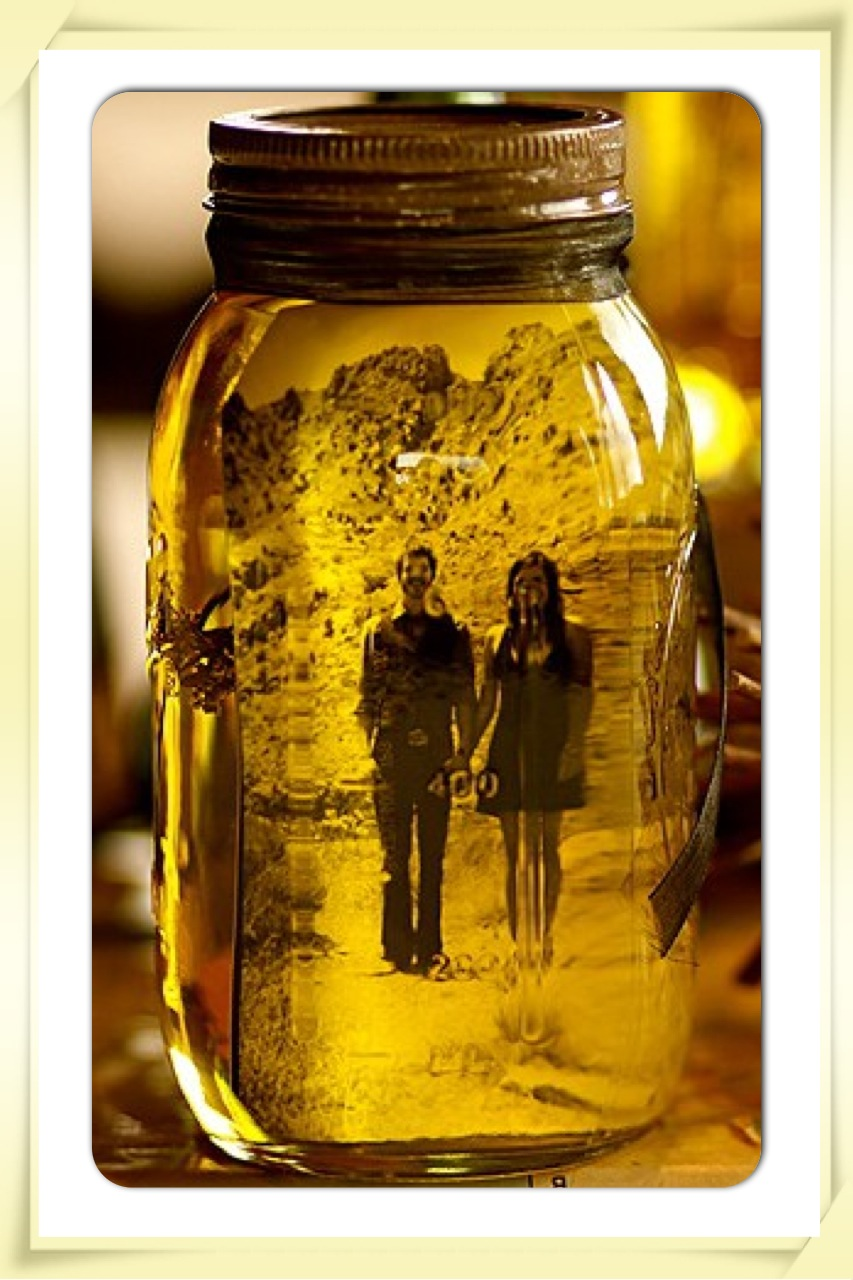 vintage look photo mason jar as seen on pinterest