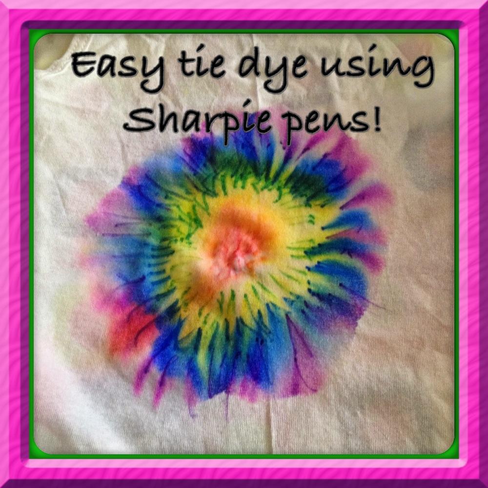 tie dye using sharpie markers