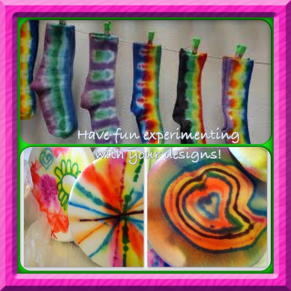 sharpie tie dye projects