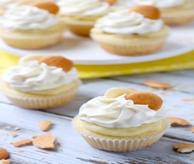 How to make banana pudding mini cupcakes