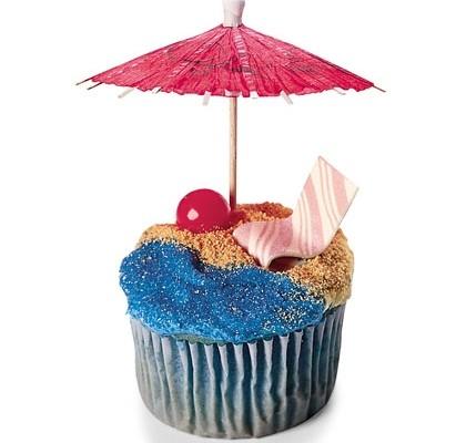 Tropical beach cupcakes
