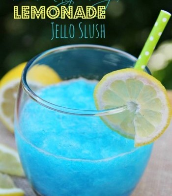 How to make a blue raspberry vodka jelly slush drink