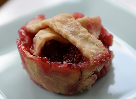 Delicious mini  raspberry pies