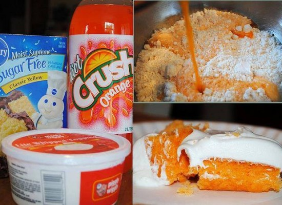 How to make an orange sherbet cake