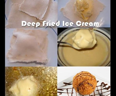 How to make delicious deep fried ice cream balls