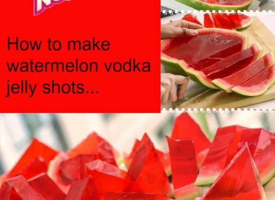 Vodka Watermelon Jelly Shots