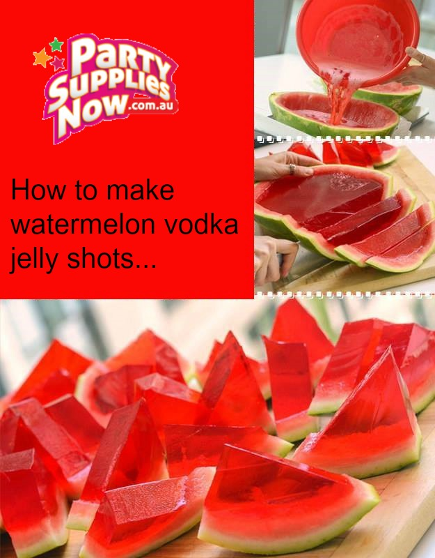 Vodka Watermelon Jelly Shots