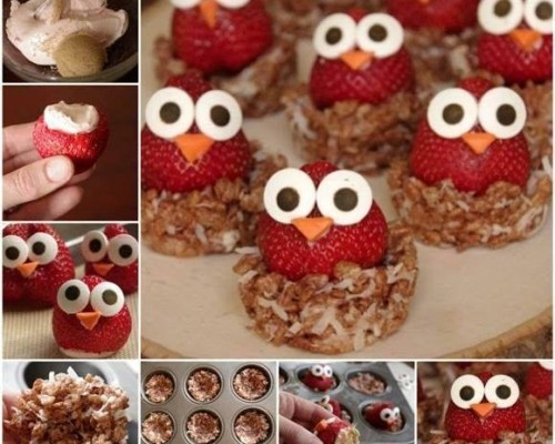 How To Make Cream Cheese Owl Strawberries