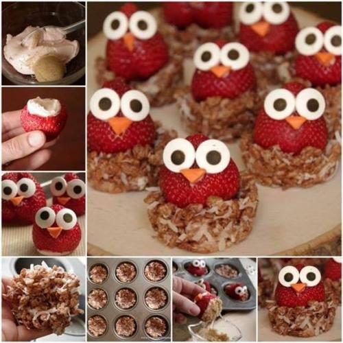 How To Make Cream Cheese Owl Strawberries