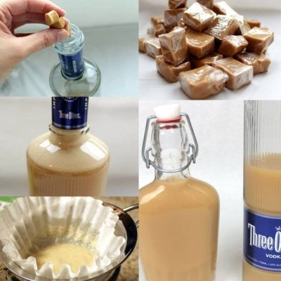 How to make salted caramel vodka