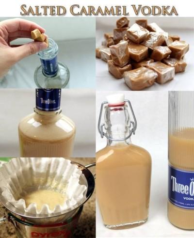 How to make salted caramel vodka