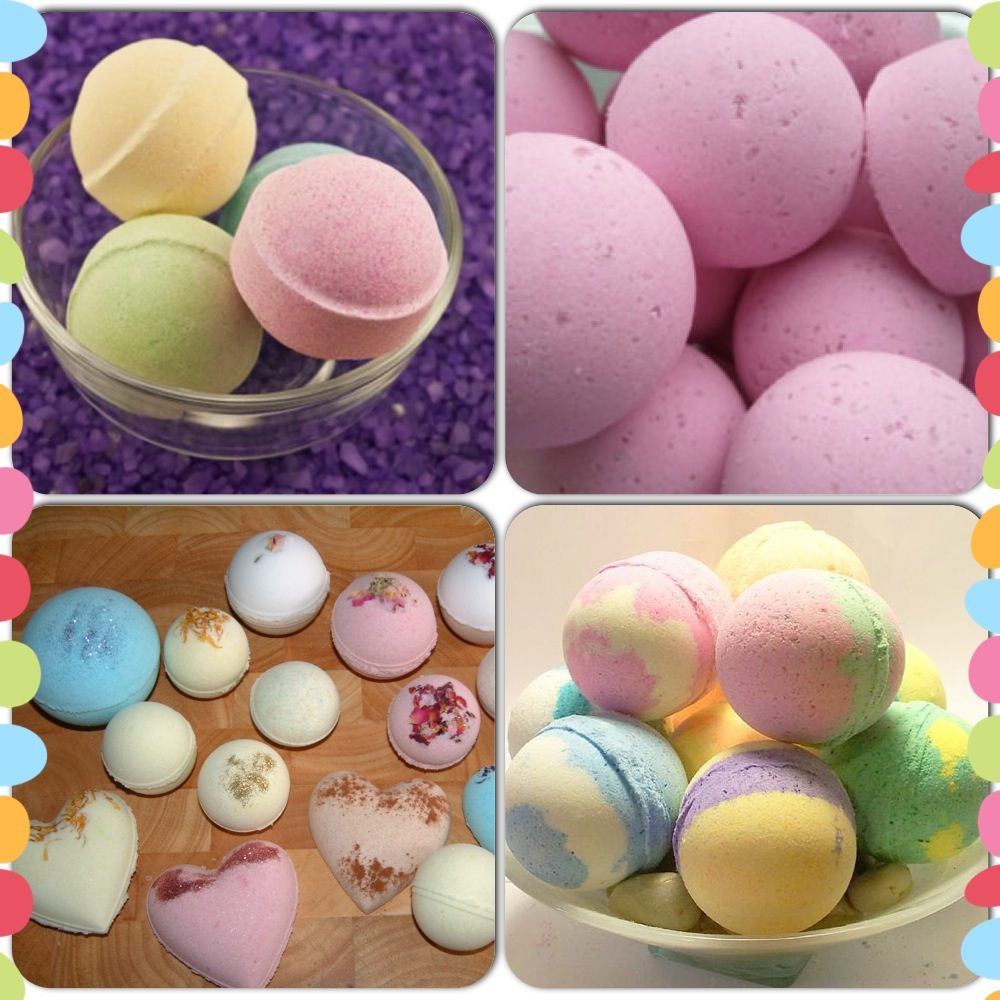 various homemade bath bombs