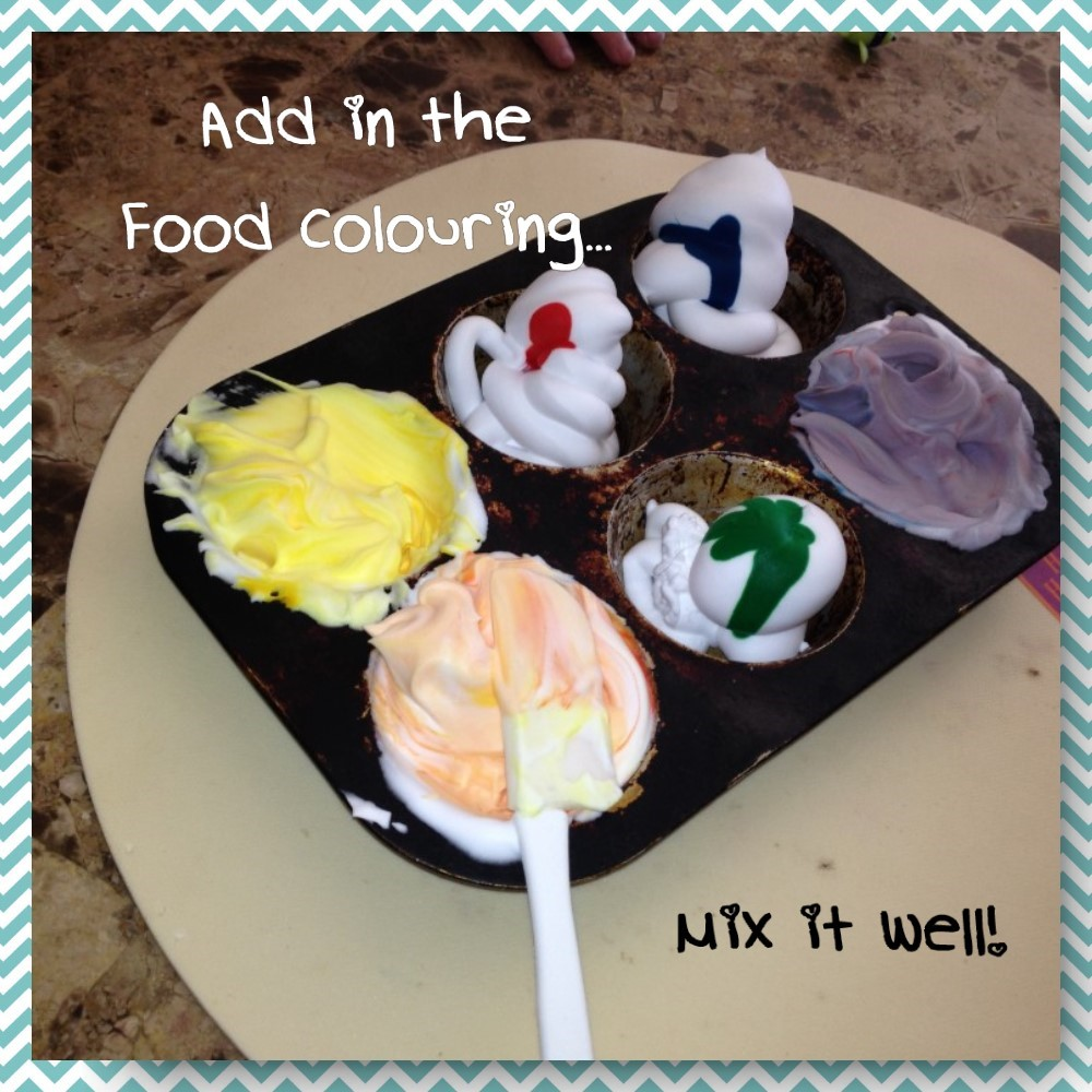 add food colouring