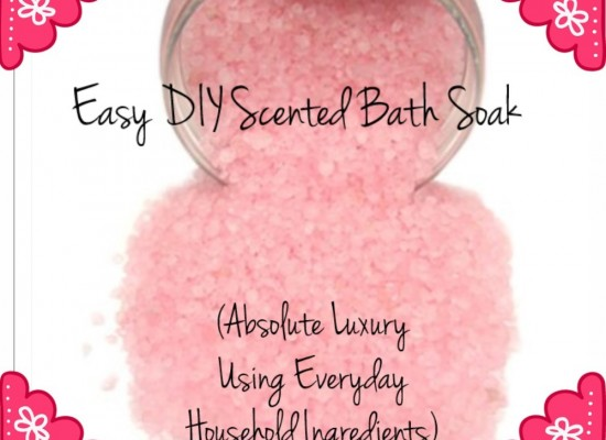 Easy DIY Scented Bath Soak