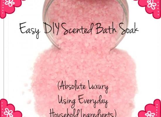 Easy DIY Scented Bath Soak