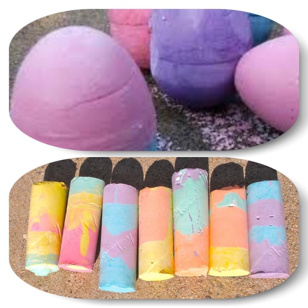chalk egg and sticks