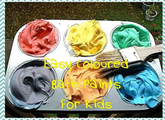 Easy Coloured Bath Paints For Kids