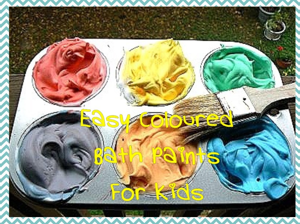 easy bath paint for kids