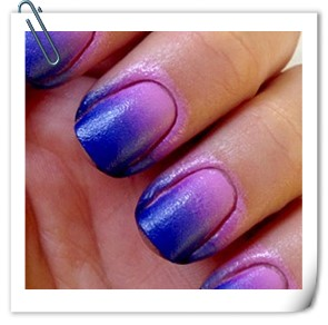 ombre painted nails