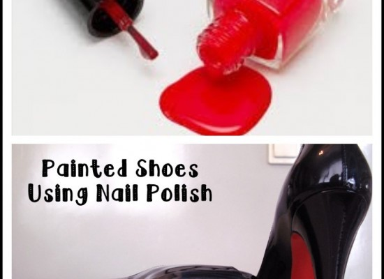 Painted Shoes Using Nail Polish