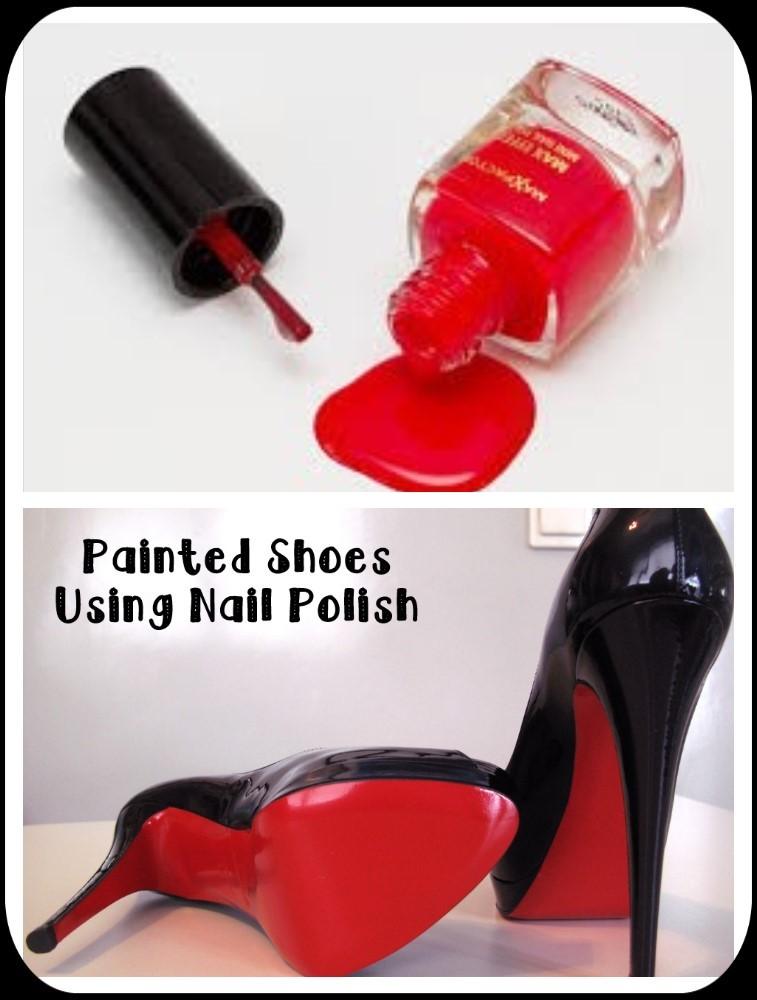 painted shoes and nail polish