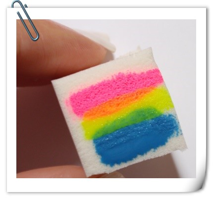 striped sponge ombre