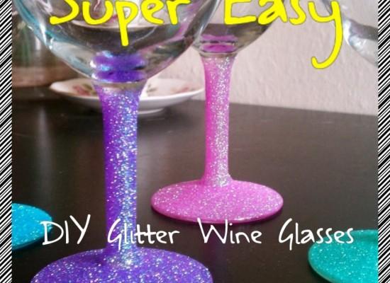 Diy Glitter Wine Glasses