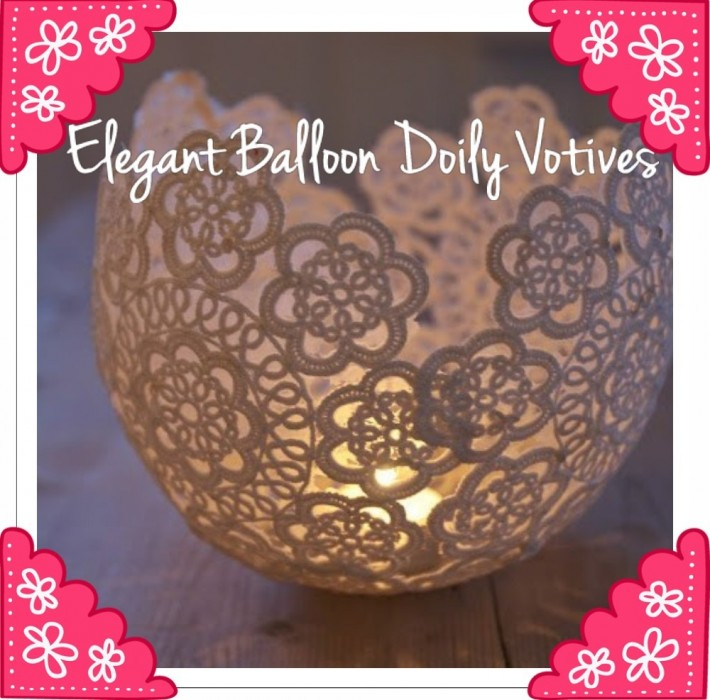 Pretty Doily Votives