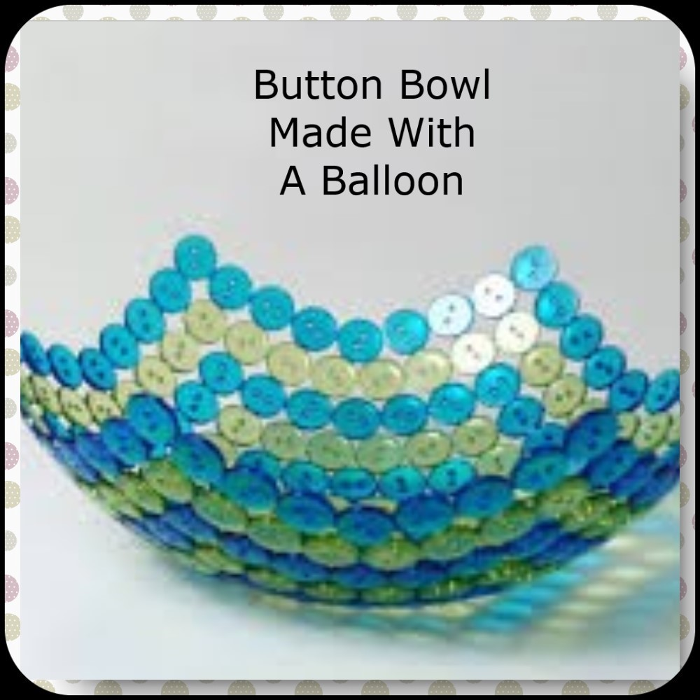 button bowl using a balloon as seen on pinterest