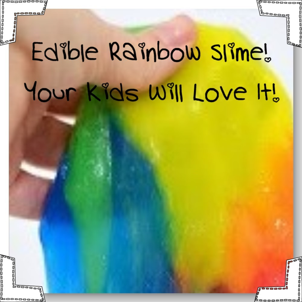 edible rainbow slime