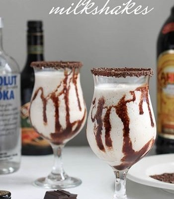 Boozy Mudslide Milkshakes