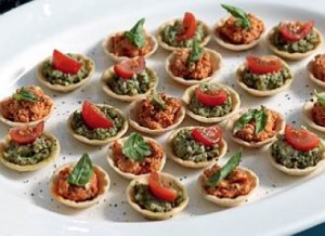 Ricotta and Basil Tartlets