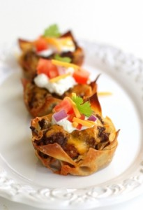 mini taco party cup cakes