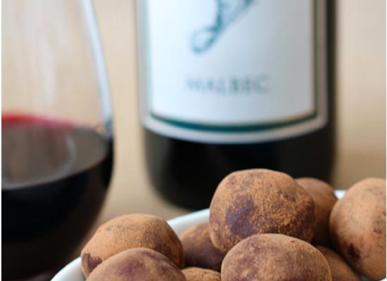 Malbec chocolate truffles