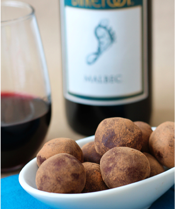 Malbec chocolate truffles